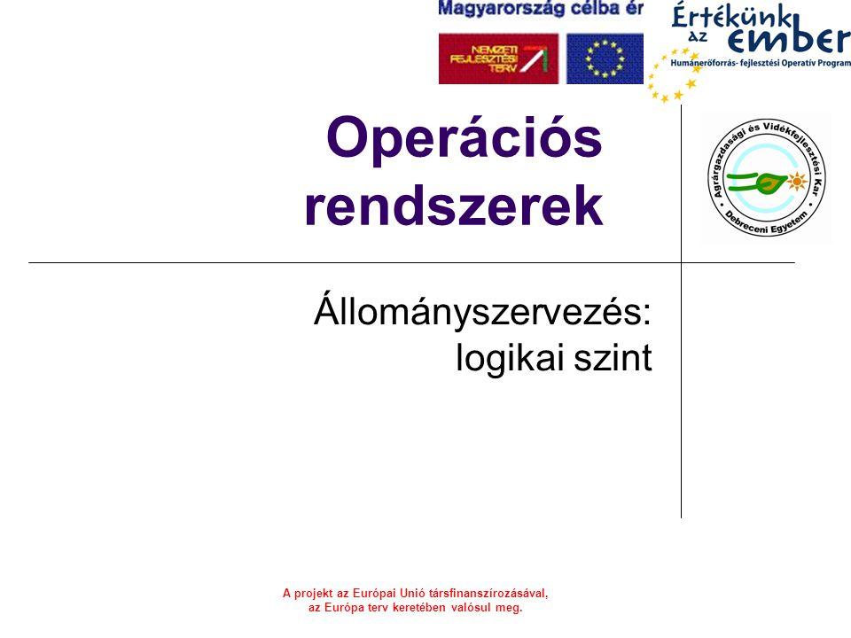 A projekt az Európai Unió társfinanszírozásával, az Európa terv keretében valósul meg.