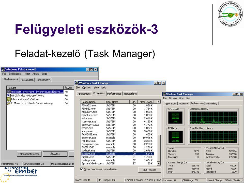Felügyeleti eszközök-3 Feladat-kezelő (Task Manager)
