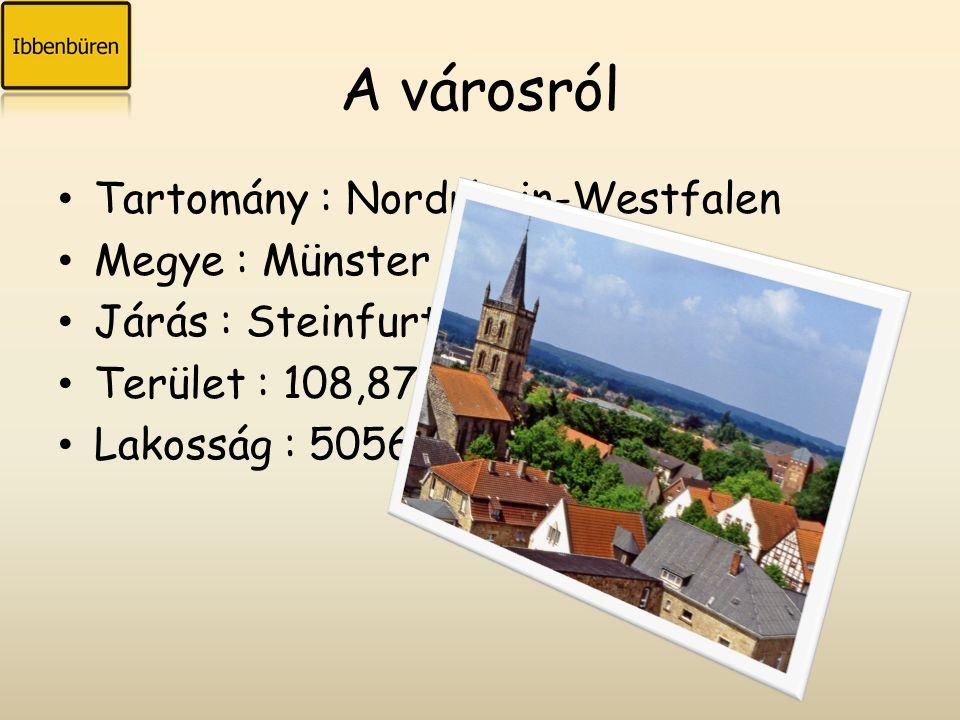 A városról Tartomány : Nordrhein-Westfalen Megye : Münster Járás : Steinfurt Terület : 108,87 km 2 Lakosság : 50560 fő
