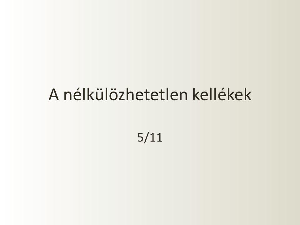 A nélkülözhetetlen kellékek 5/11