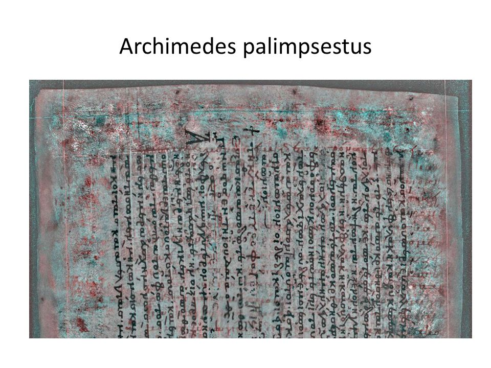 Archimedes palimpsestus