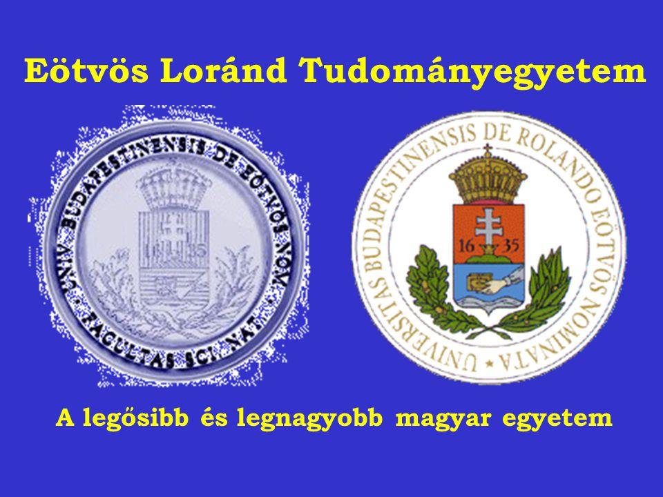 Eötvös Loránd Tudományegyetem A legősibb és legnagyobb magyar egyetem