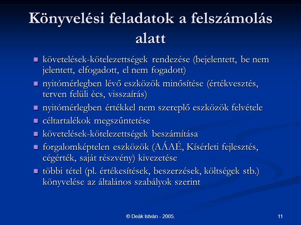 11© Deák István - 2005.