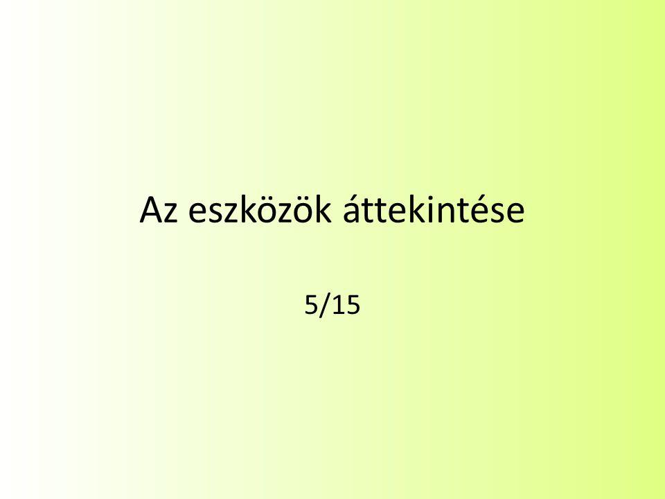 Az eszközök áttekintése 5/15