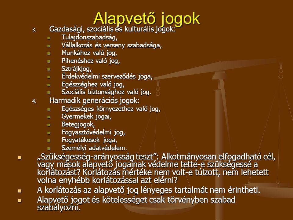 Alapvető jogok 3.