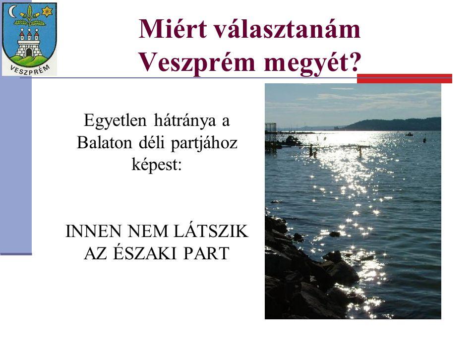 Miért választanám Veszprém megyét? Egyetlen hátránya a Balaton déli partjához képest: INNEN NEM LÁTSZIK AZ ÉSZAKI PART