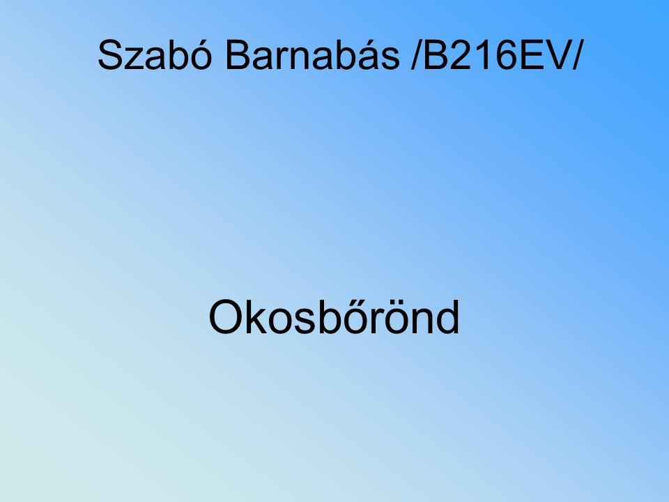 Szabó Barnabás /B216EV/ Okosbőrönd