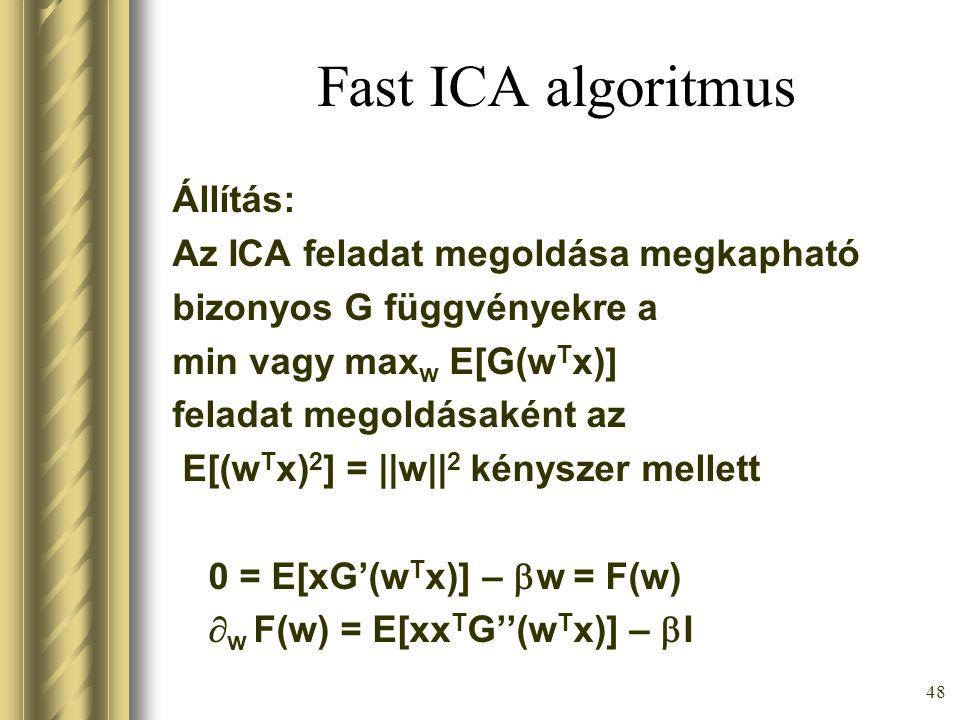 47 Fast ICA algoritmus