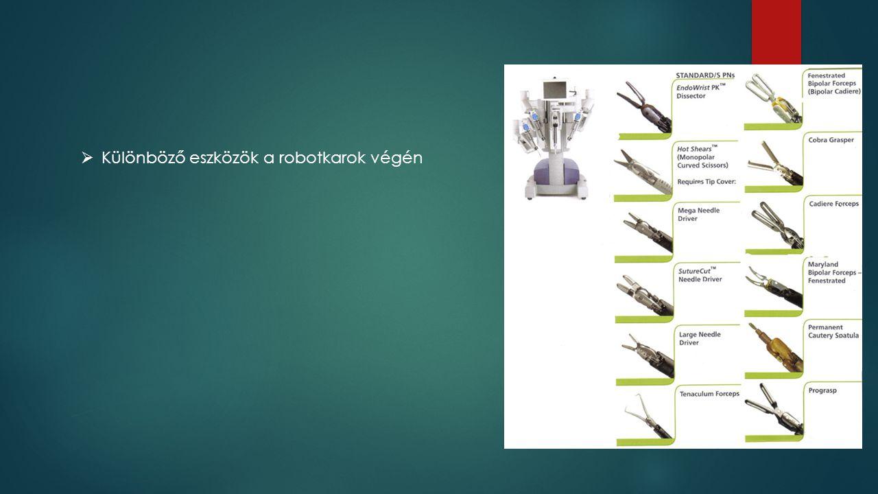  Különböző eszközök a robotkarok végén