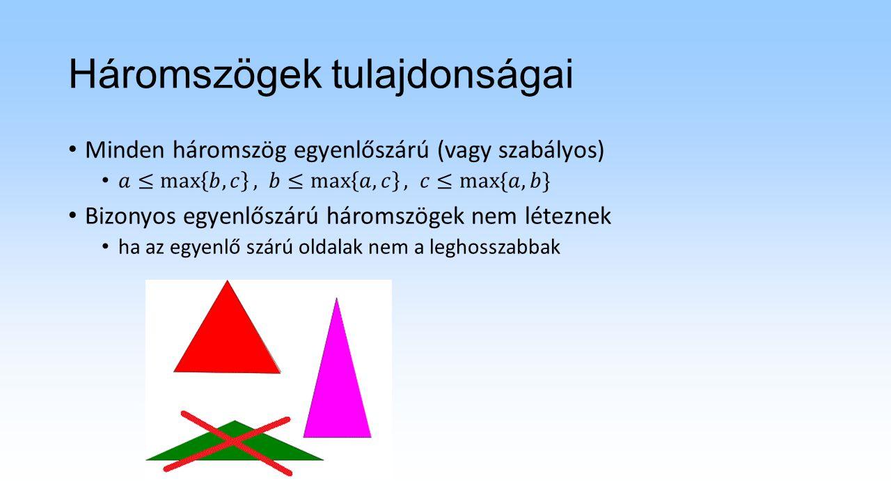 Háromszögek tulajdonságai
