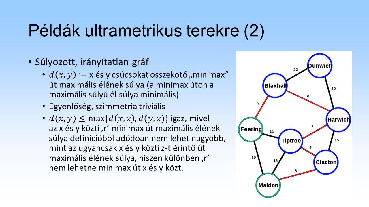 Példák ultrametrikus terekre (3)
