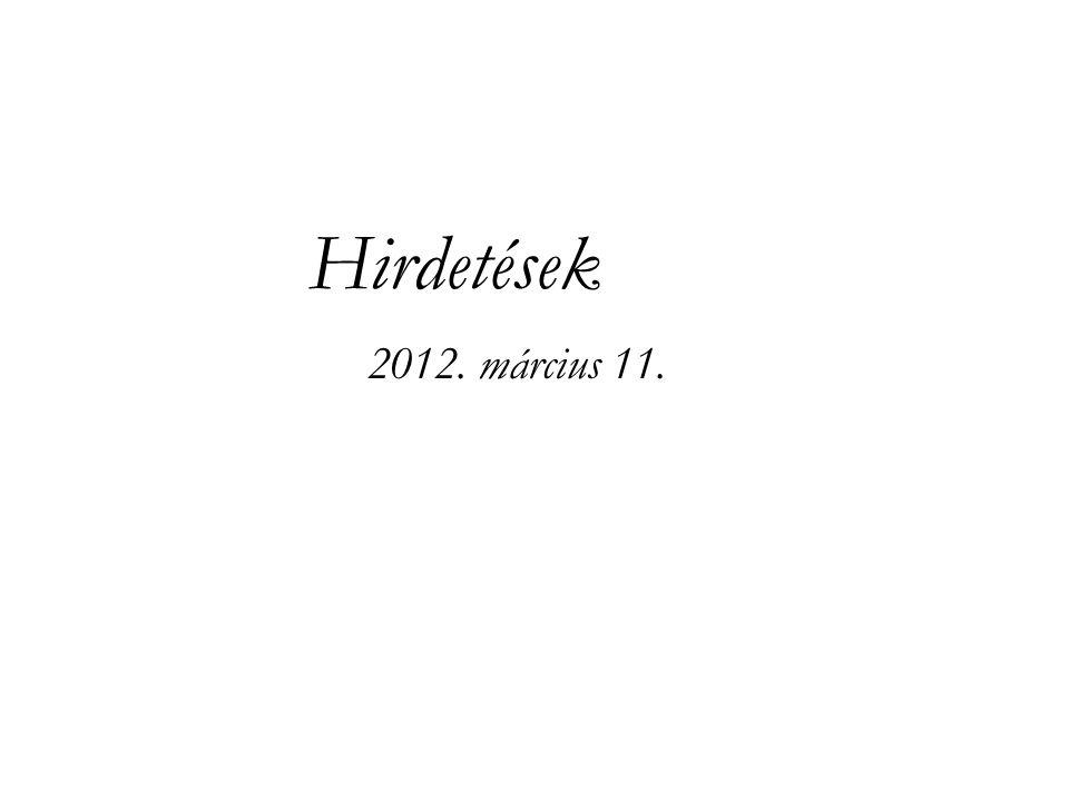 Hirdetések 2012. március 11.