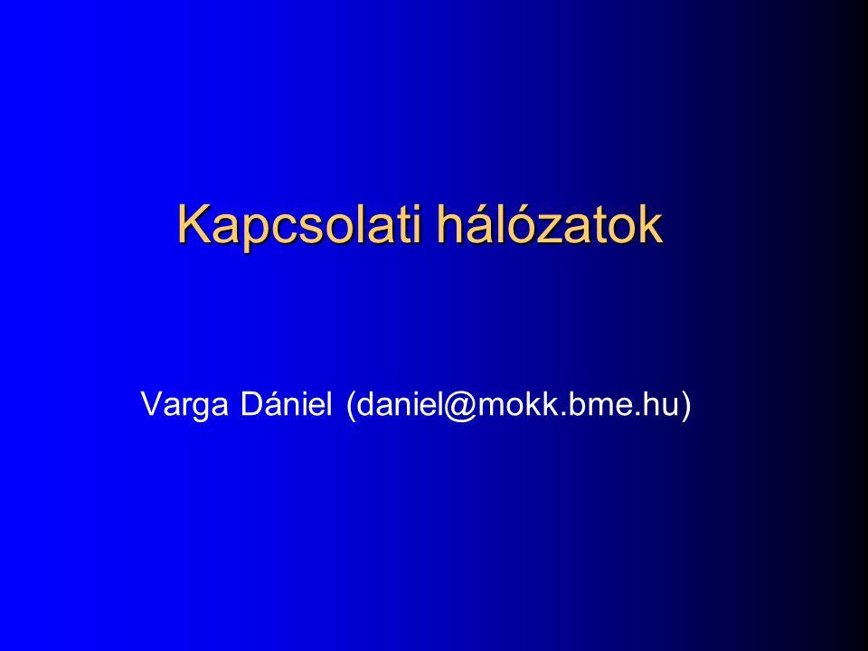 Kapcsolati hálózatok Varga Dániel (daniel@mokk.bme.hu)