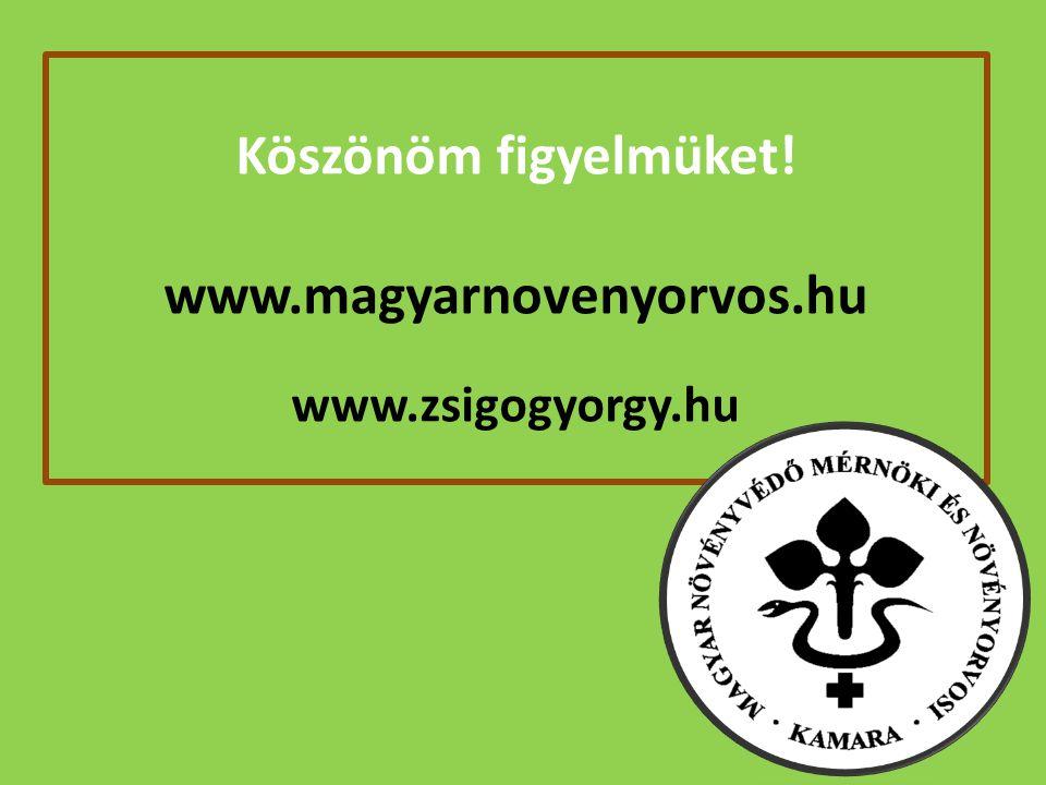 Köszönöm figyelmüket! www.magyarnovenyorvos.hu www.zsigogyorgy.hu