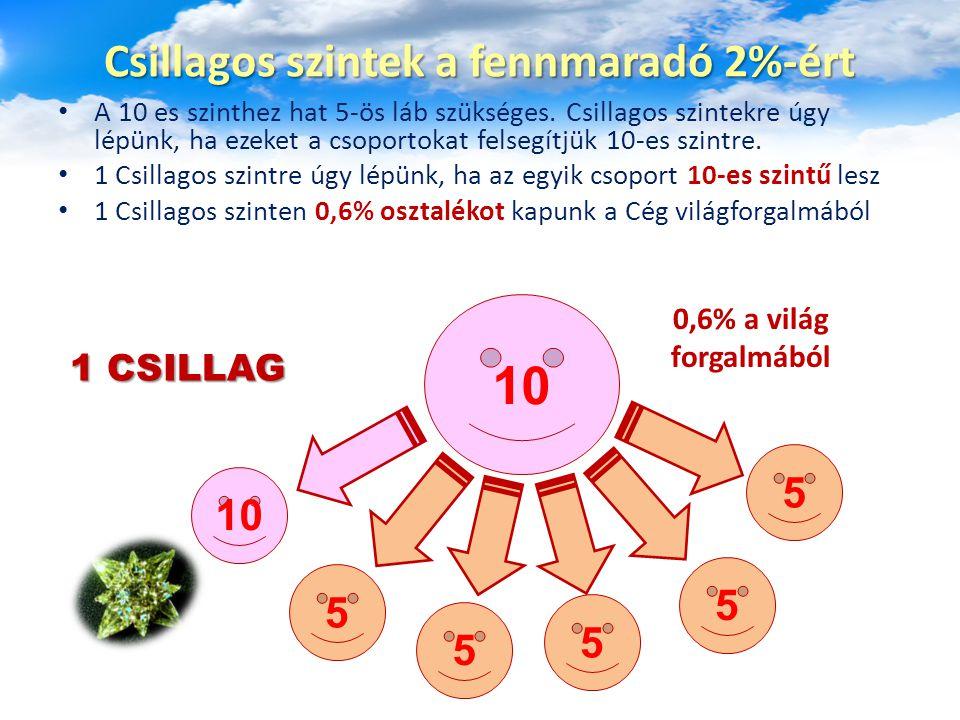 A 10 es szinthez hat 5-ös láb szükséges. Csillagos szintekre úgy lépünk, ha ezeket a csoportokat felsegítjük 10-es szintre. 1 Csillagos szintre úgy lé