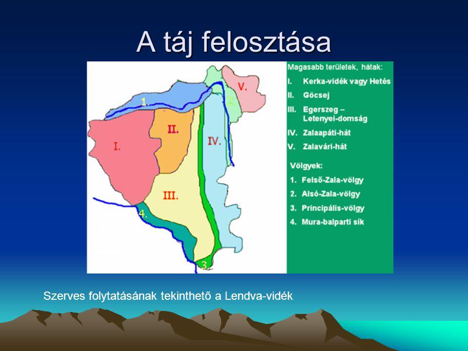 A táj felosztása Szerves folytatásának tekinthető a Lendva-vidék