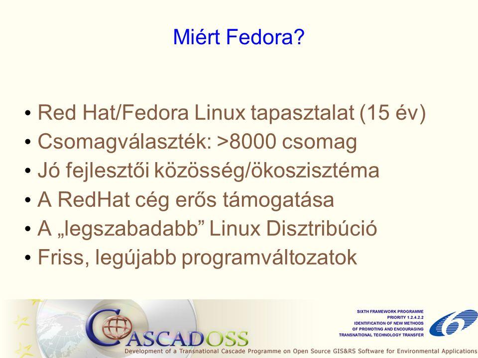 Miért Fedora.