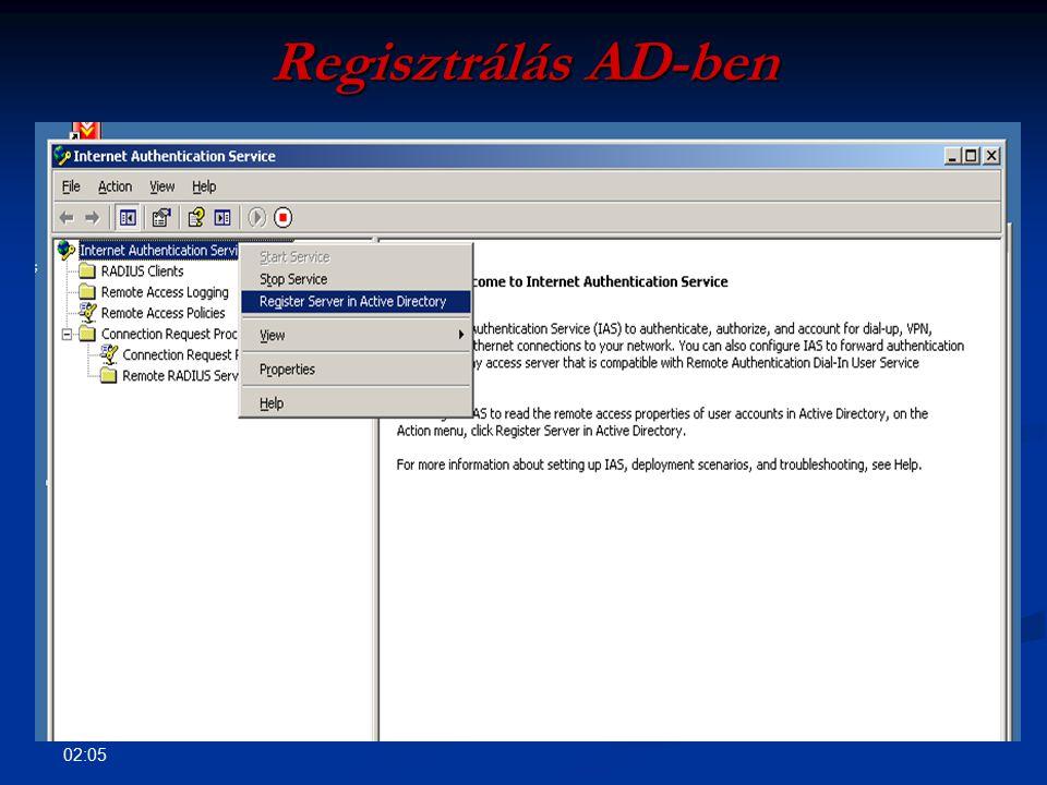 Regisztrálás AD-ben