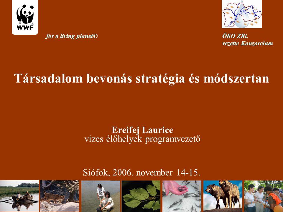 Társadalom bevonás stratégia és módszertan Ereifej Laurice vizes élőhelyek programvezető Siófok, 2006.