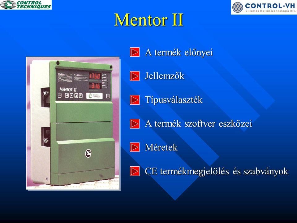 Jellemzők - PID szabályzó programozható - 8 előre beállított fordulatszám - motorpontencióméter - második motor paraméterkészlet - önműködő motorillesztés - leállítási módok választhatók - programozható biztonsági kód Könnyű beállíthatóság - makrók - és még sok más
