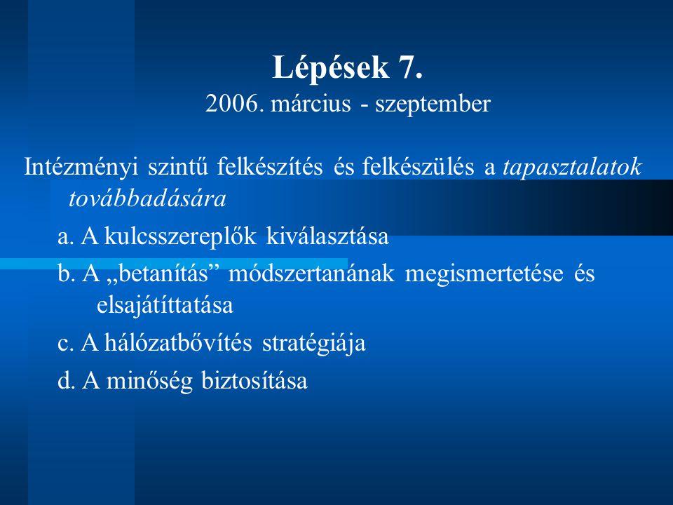 Lépések 7. 2006.