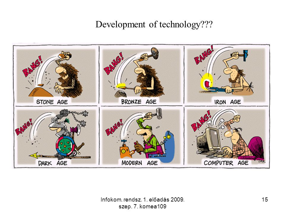 Infokom. rendsz. 1. előadás 2009. szep. 7. komea109 15 Development of technology