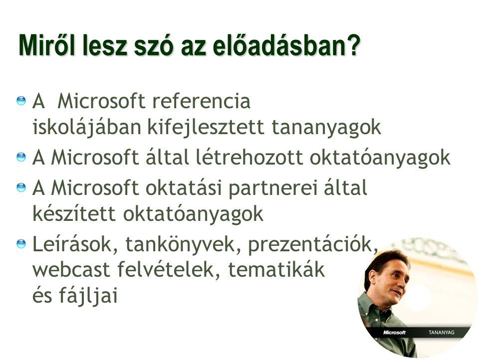23 További információk: A Microsoft honlapja: http://www.microsoft.com/hun A kapott DVD-n van egy Word dokumentum: Olvass el.