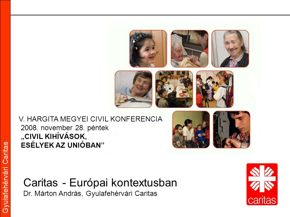 Gyulafehérvári Caritas V. HARGITA MEGYEI CIVIL KONFERENCIA 2008.