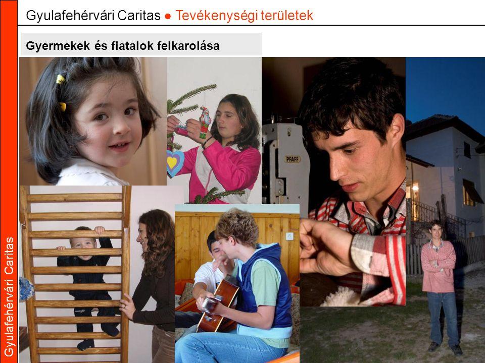 Gyulafehérvári Caritas Gyermekek és fiatalok felkarolása Gyulafehérvári Caritas ● Tevékenységi területek