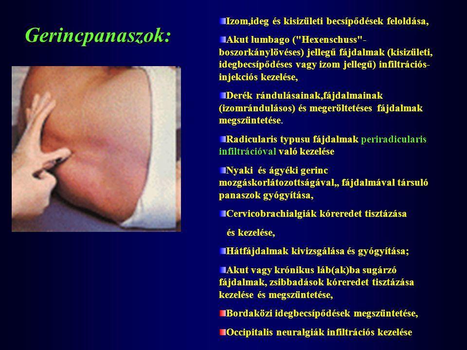 Izom,ideg és kisizületi becsípődések feloldása, Akut lumbago (