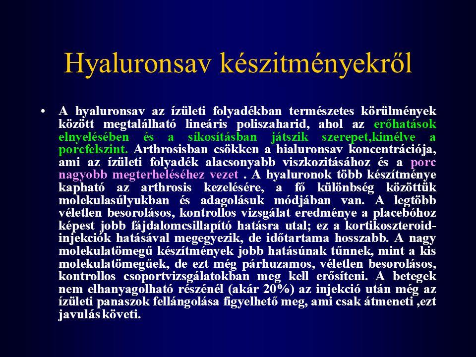 Hyaluronsav készitményekről A hyaluronsav az ízületi folyadékban természetes körülmények között megtalálható lineáris poliszaharid, ahol az erőhatások