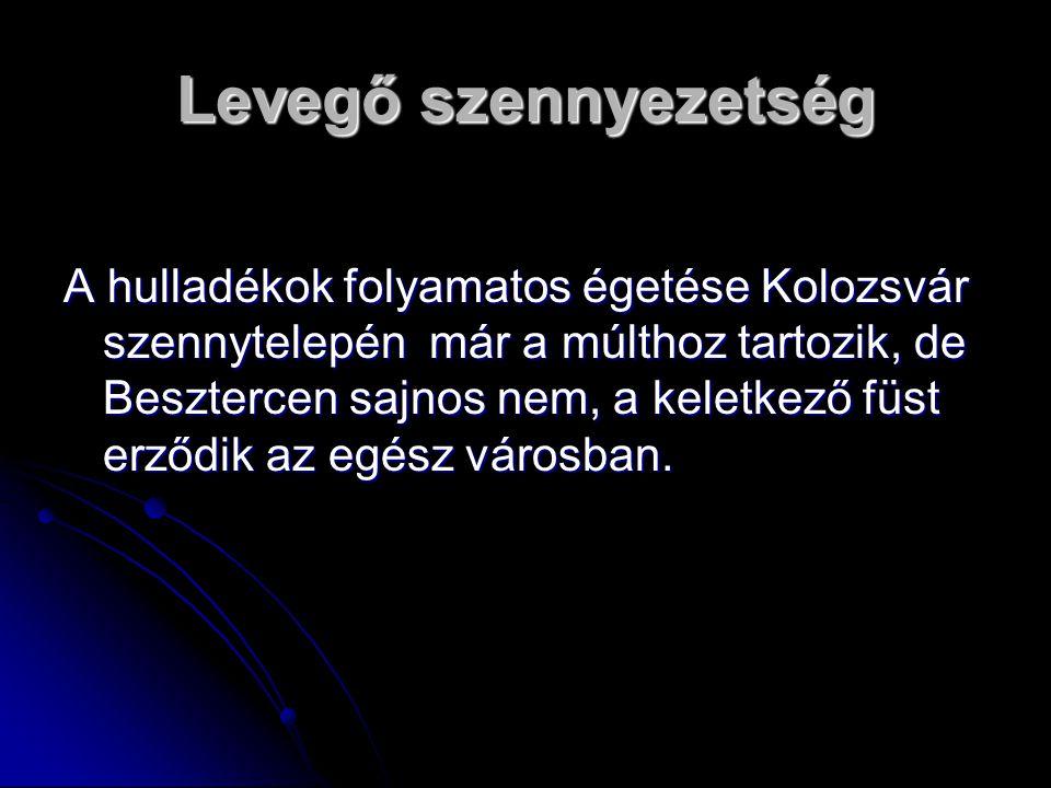 Levegő szennyezetség A hulladékok folyamatos égetése Kolozsvár szennytelepén már a múlthoz tartozik, de Besztercen sajnos nem, a keletkező füst erződi