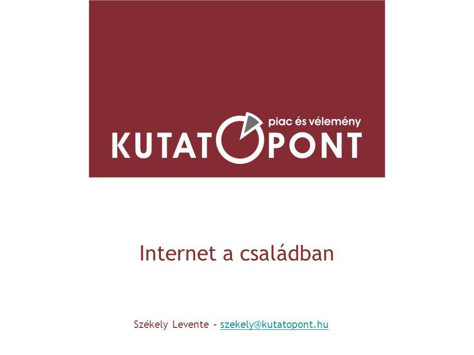 Internet a családban Székely Levente – szekely@kutatopont.huszekely@kutatopont.hu