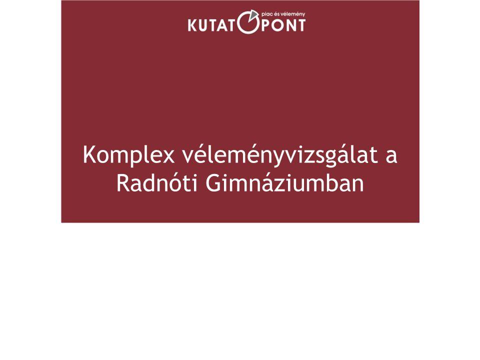 Komplex véleményvizsgálat a Radnóti Gimnáziumban