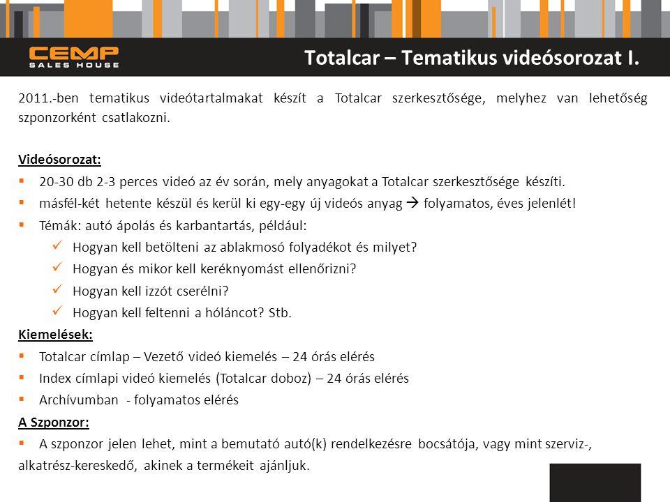 Totalcar – Tematikus videósorozat I.