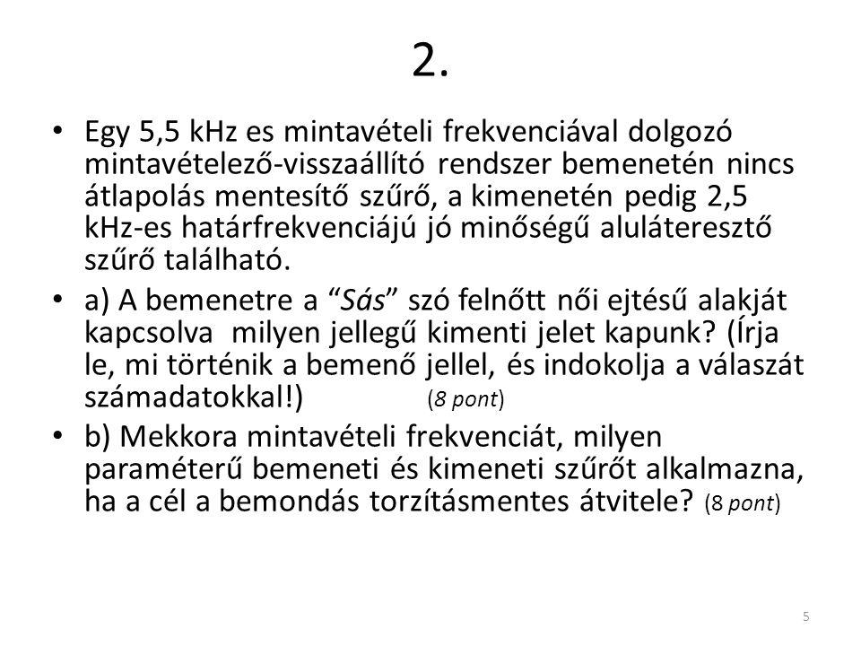 1. 4 a) eredeti b) mintavételezett, átlapolásmentesítő szűrő nélkül