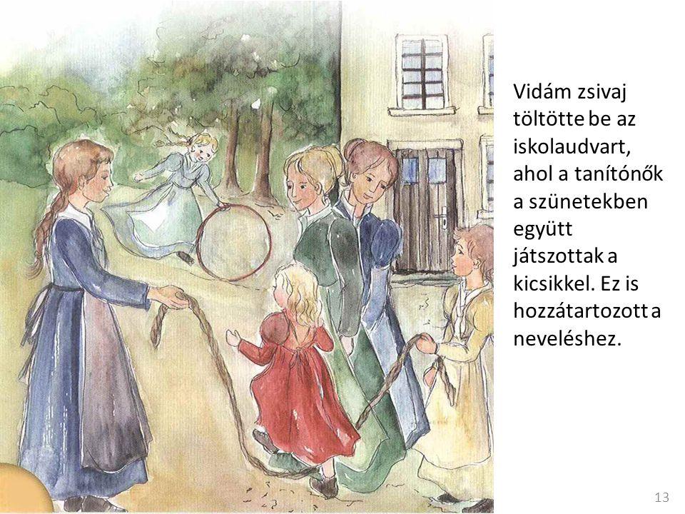 Vidám zsivaj töltötte be az iskolaudvart, ahol a tanítónők a szünetekben együtt játszottak a kicsikkel.