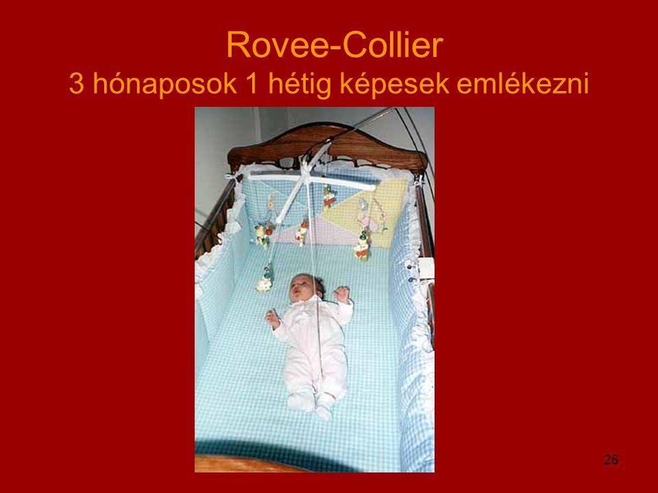 Egyed Kata 2004/2005 ősz26 Rovee-Collier 3 hónaposok 1 hétig képesek emlékezni