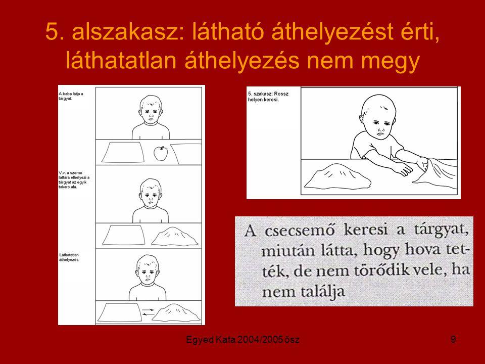 Egyed Kata 2004/2005 ősz9 5. alszakasz: látható áthelyezést érti, láthatatlan áthelyezés nem megy