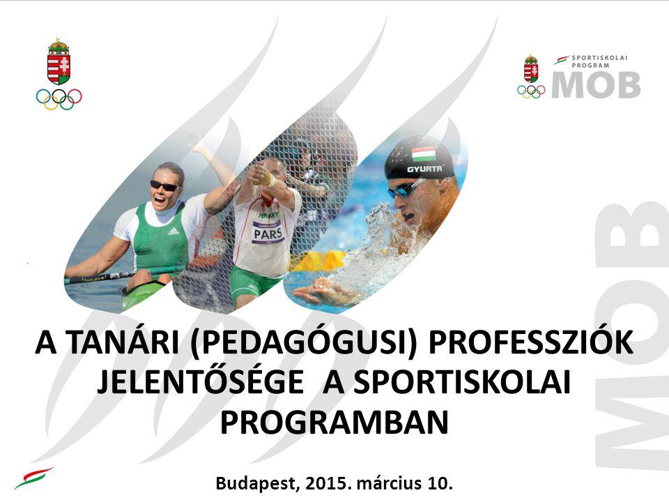 A TANÁRI (PEDAGÓGUSI) PROFESSZIÓK JELENTŐSÉGE A SPORTISKOLAI PROGRAMBAN Budapest, 2015. március 10.