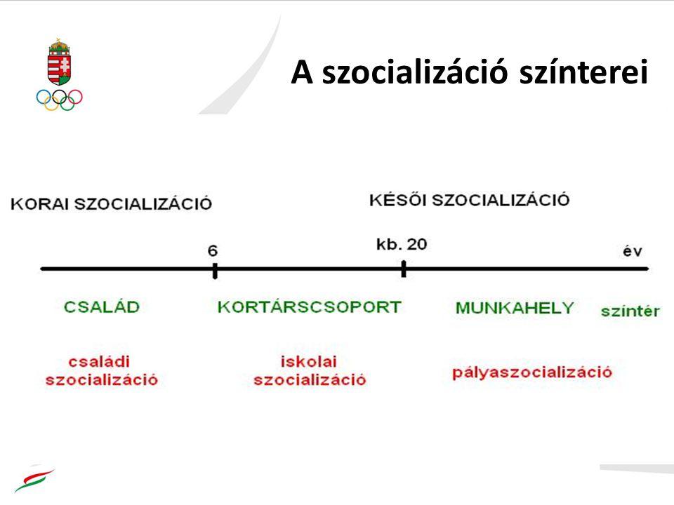 A szocializáció színterei