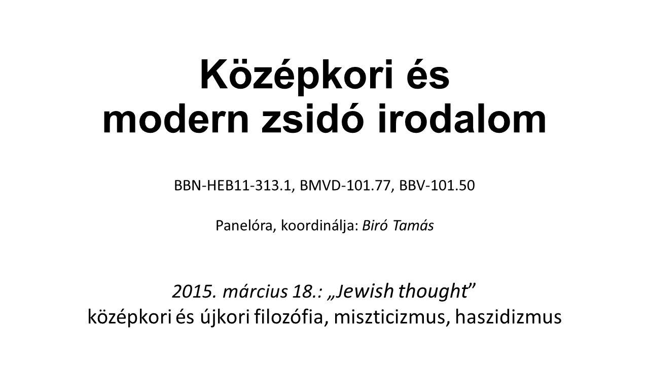 A februári bevezető előadás összefoglalása Mitől zsidó egy zsidó irodalmi/művészeti alkotás.