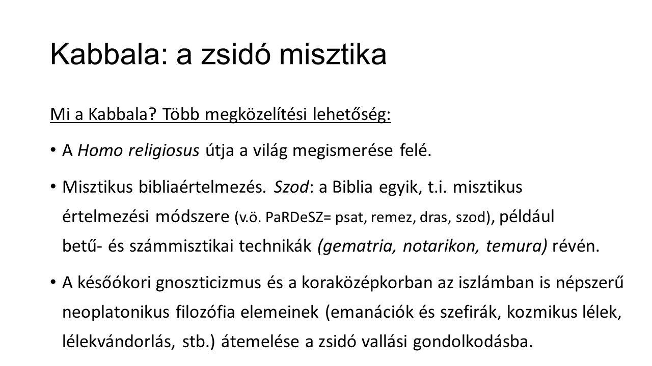 Kabbala: a zsidó misztika Mi a Kabbala.
