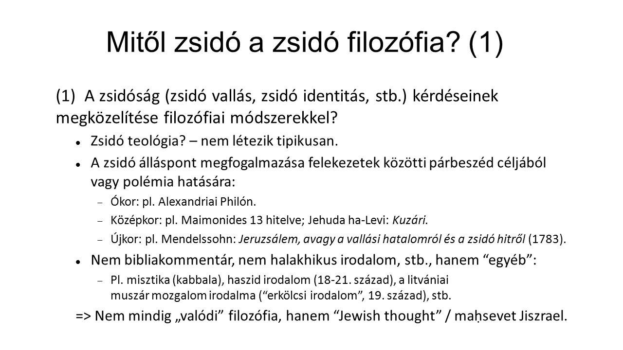 Mitől zsidó a zsidó filozófia.