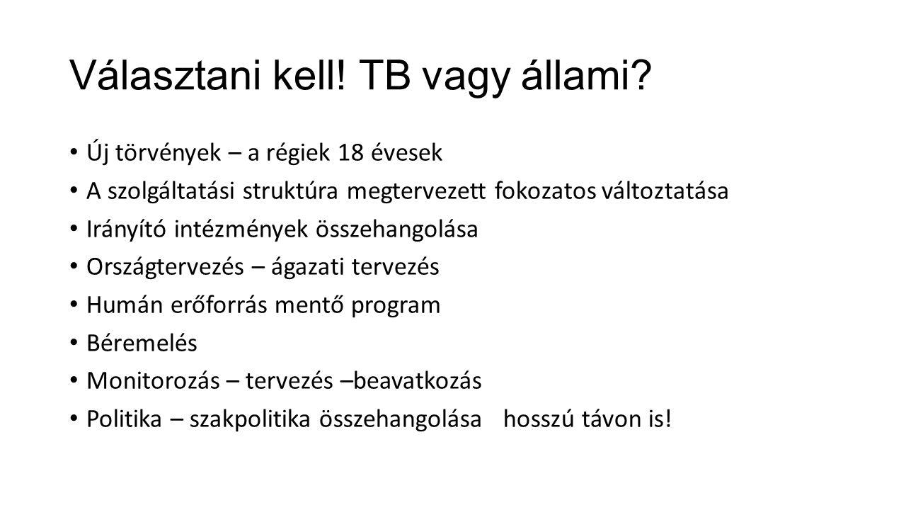 Választani kell. TB vagy állami.