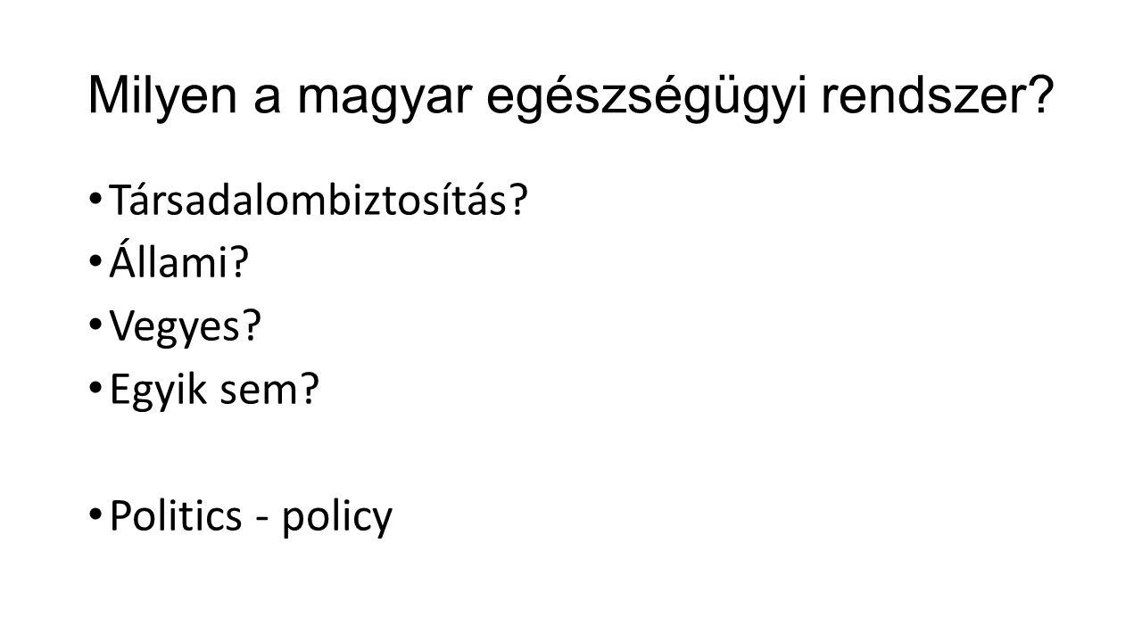 Milyen a magyar egészségügyi rendszer. Társadalombiztosítás.