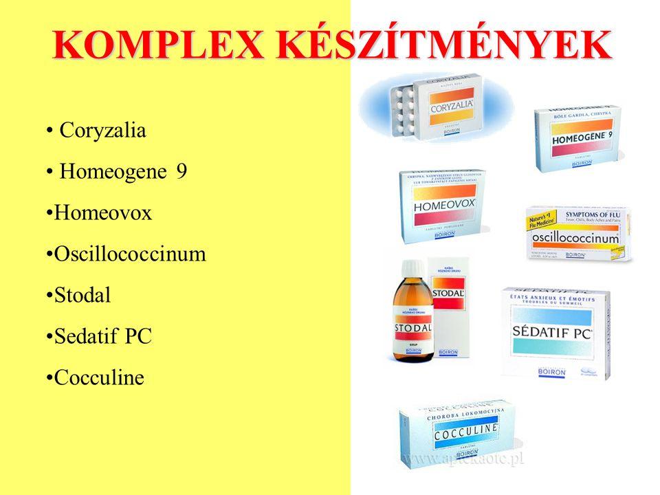 KOMPLEX KÉSZÍTMÉNYEK Coryzalia Homeogene 9 Homeovox Oscillococcinum Stodal Sedatif PC Cocculine