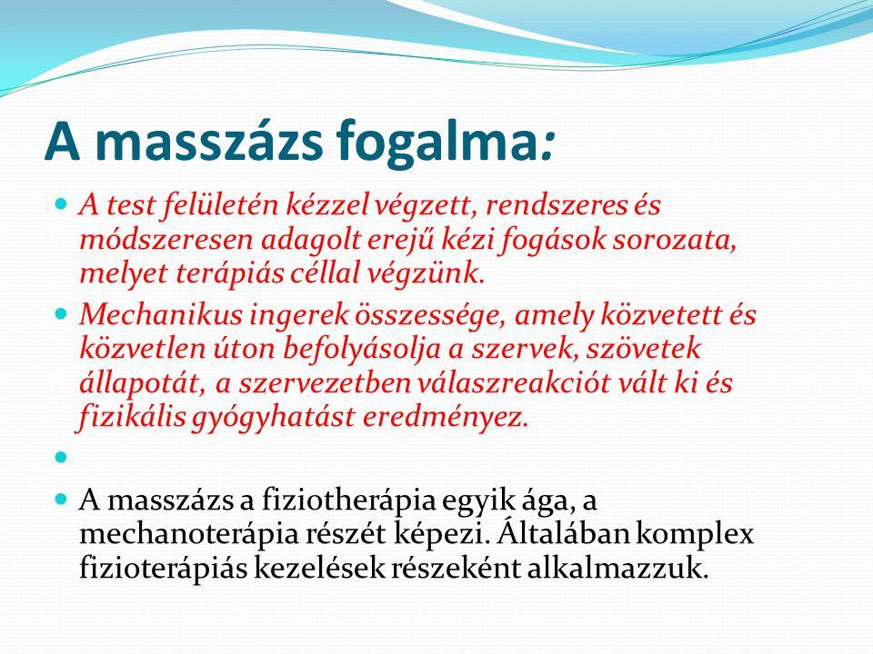 A masszázs hatása a vér- és nyirokkeringésre: A masszázs mechanikai hatást gyakorol a bőrre és az alatta lévő szövetekre.