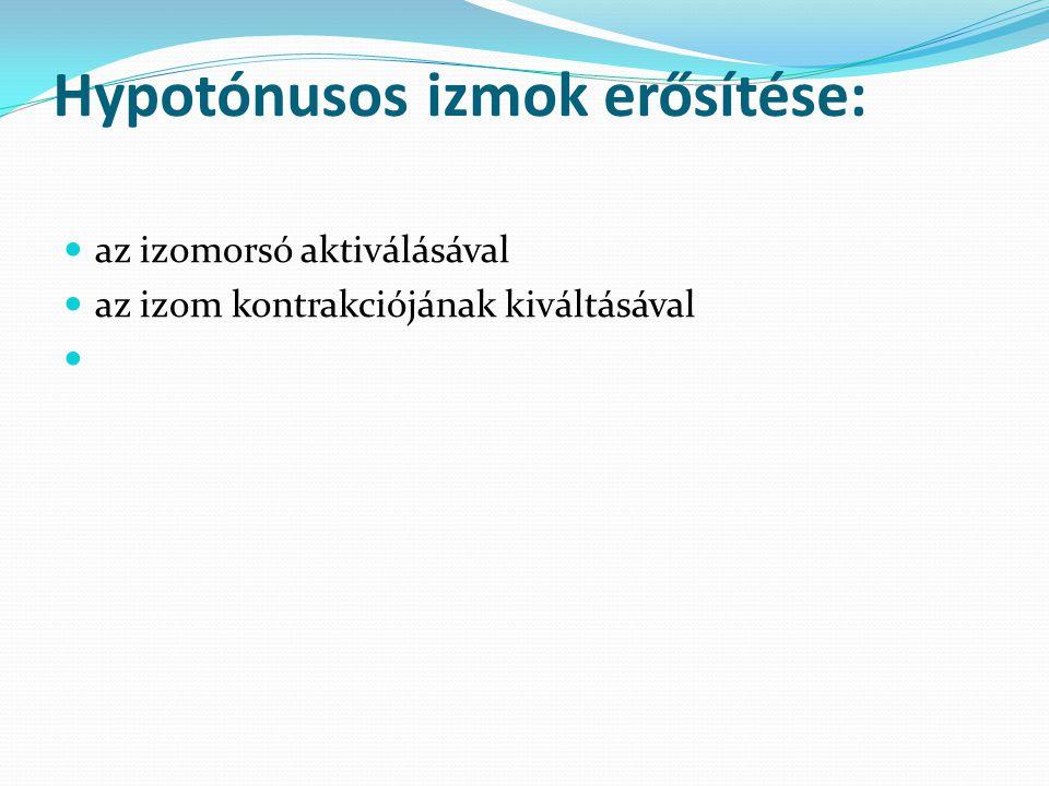 Hypotónusos izmok erősítése: az izomorsó aktiválásával az izom kontrakciójának kiváltásával