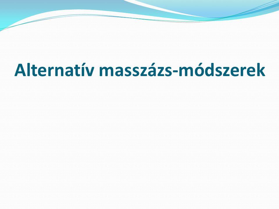 Alternatív masszázs-módszerek